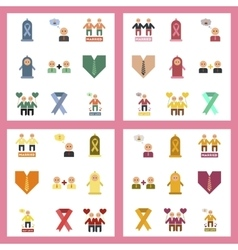 assembly flat icons gay relationships vector image vector image