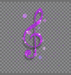 Big shiny treble clef vector
