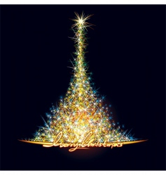 Christmas stars tree vector image