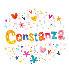 Constanza girls name vector