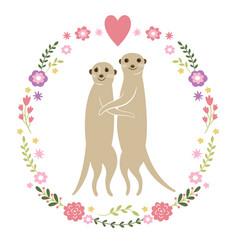 cute meerkats vector image vector image