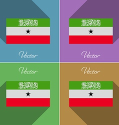 Flags south africa set of colors flat design and vector