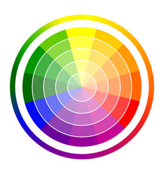 Gradation of colors in the circle vector