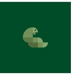 Green snake cobra minimalism of squares vector