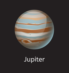 high quality space planet galaxy astronomy jupiter vector image vector image