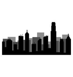 hong kong skyline vector image