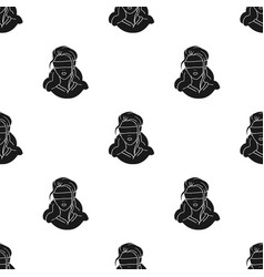 Hostage icon in black style isolated on white vector