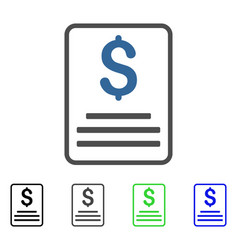 Invoice budget flat icon vector