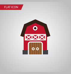 Isolated warehouse flat icon storage vector