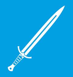 Long sword icon white vector
