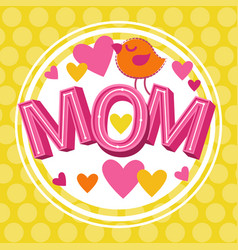 love mom happy mother day spring holiday vector image vector image