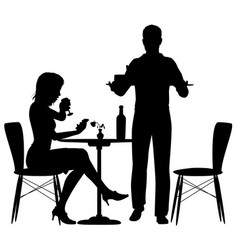 man serving meal vector image