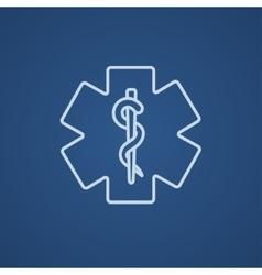 Medical symbol line icon vector image vector image