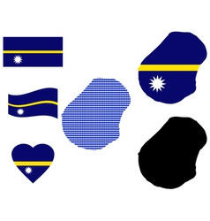 Nauru map vector