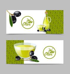 Olive Oil Banner Set vector image vector image