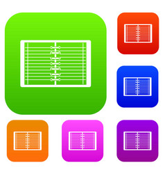 open spiral lined notebook set color collection vector image vector image