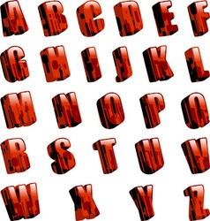 red font vector image vector image