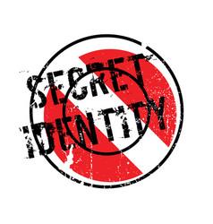 secret identity rubber stamp vector image
