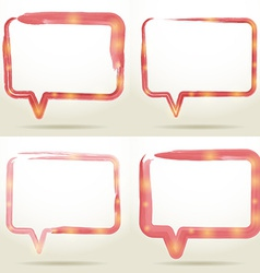 Set Blank empty white speech bubbles watercolor on vector image