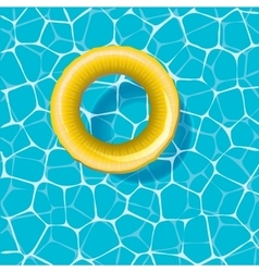 Swimming circle on the water vector