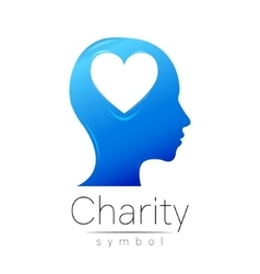 Symbol of charity sign head vector