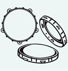 Tambourine with nobody holding vector image