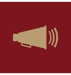 The megaphone icon bullhorn symbol flat vector