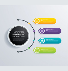 timeline 4 infographic design and marketing vector image vector image
