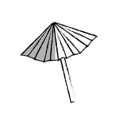 Umbrella cocktail isolated icon vector