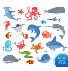 underwater funny cartoon character vector image