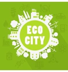 Eco town vector