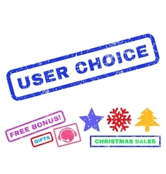 User choice rubber stamp vector