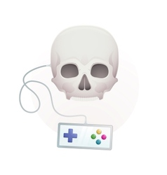 Skull with a gamepad vector