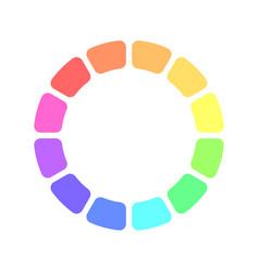 Partly transparent rainbow spectrum color blocks vector