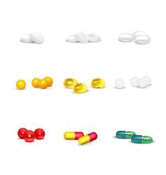 3d pills set vector