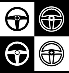 Car driver sign  black and white icons and vector