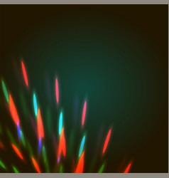 Bright bokeh shining flares vector