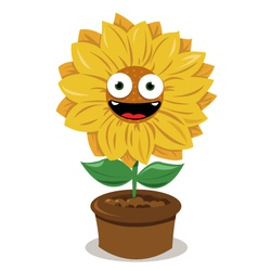 Funny sunflower vector