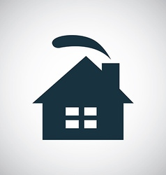 Cozy home icon vector