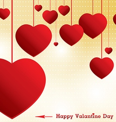 Valantine day on yellow background vector