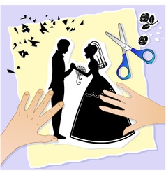 wedding scene vector image