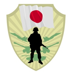 Army of japan vector