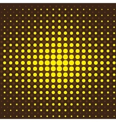 Brown and yellow halftone background vector