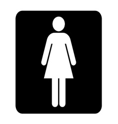 Toilets women sign vector