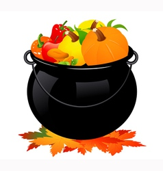 Autumn cauldron vector image vector image