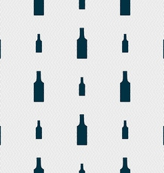 bottle icon sign Seamless pattern with geometric vector image