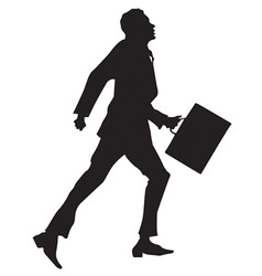 Business men sillhouettes vector image