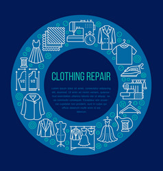 clothing repair alterations studio equipment vector image