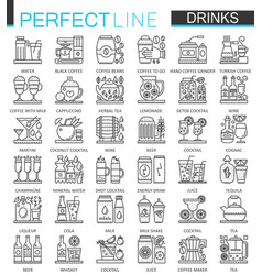 drinks outline concept symbols perfect thin line vector image vector image