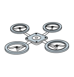 Drone technology isolated vector